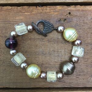 Pearl & Glass Beaded Bracelet